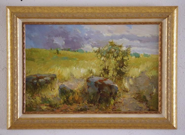Landscape  Original oil painting  Handmade artwork Framed Ready to Hang One of a kind - Image 0