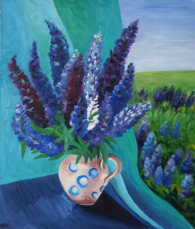 Flowered lupine -