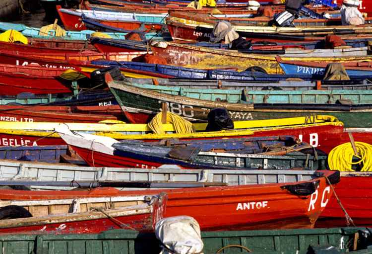 Fishing harbor, Antofogasta, Chile -