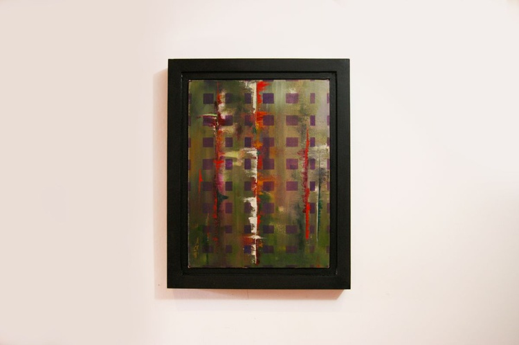 Ab Squares V- Original One of a Kind Contemporary Abstract Oil Painting - Image 0