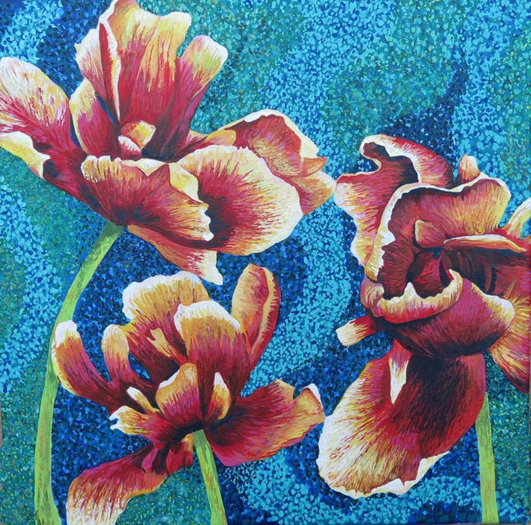 Three Tulips - Image 0