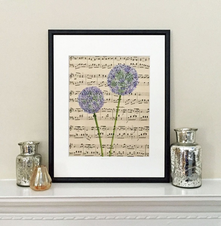 Purple Alliums - Framed - Image 0