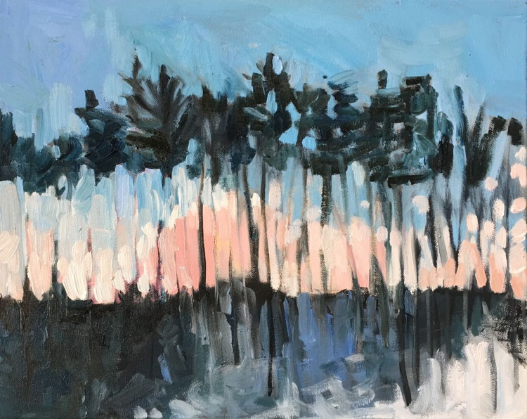 Painting a day Challenge- Winter Sky - Image 0