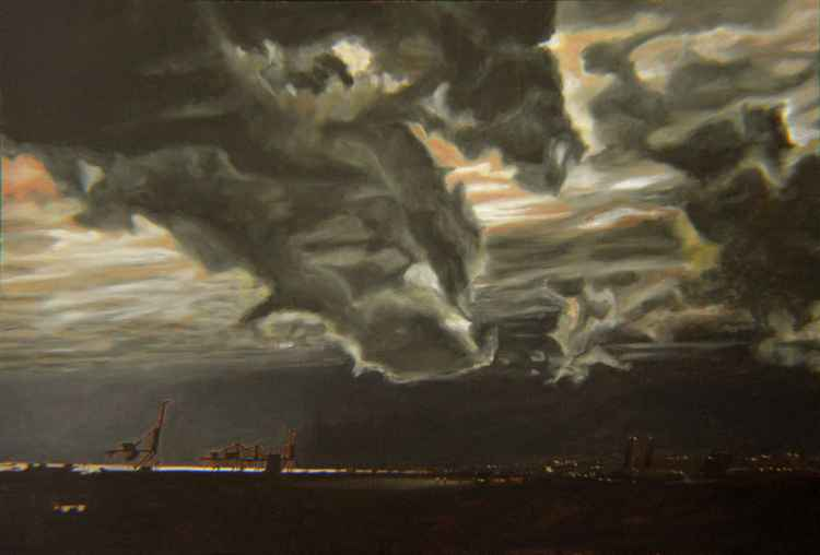 A December Day - industrial landscape - stormy cloud