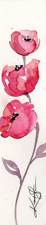 Itsy Bitsy Blossoms 2 - Original Tiny Watercolor - Image 0