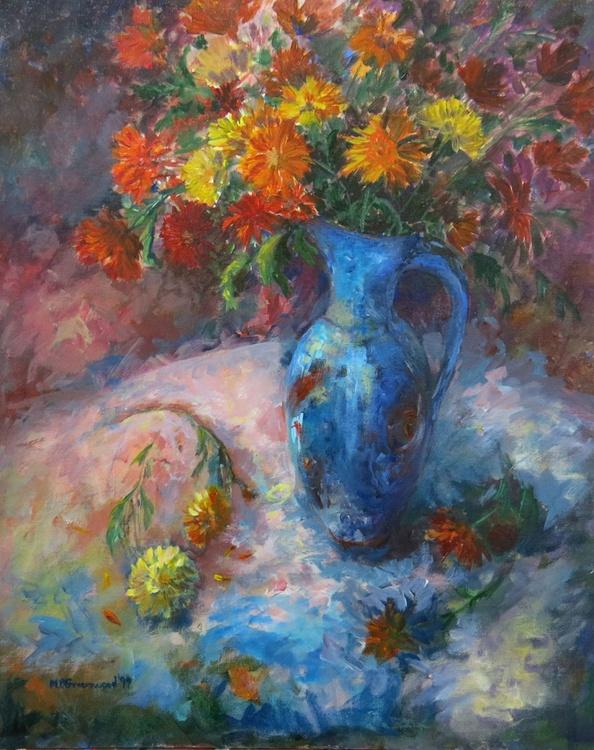 Chrysanthemums in a Jug - Image 0