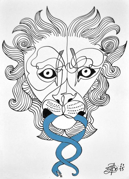 Lion & Snake - Large Paper - Image 0