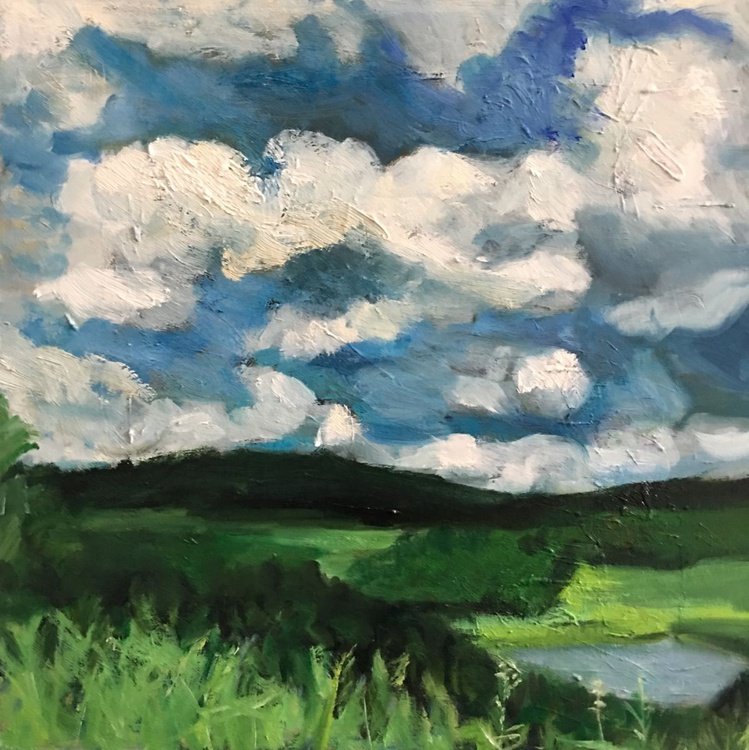 Summer Sky, Small size oil painting - Image 0