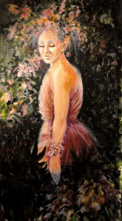 Flora - Extra large size - 80X150 cm - unstretched canvas - Image 0