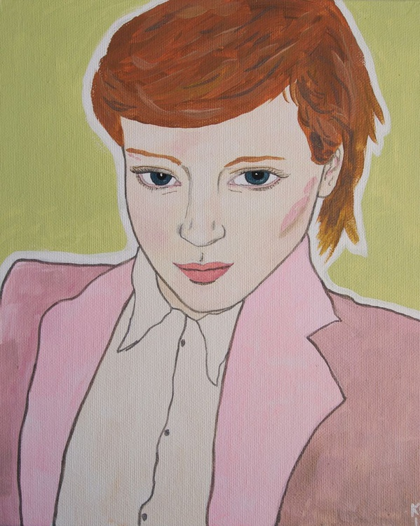 Model in a Pink Jacket - Image 0