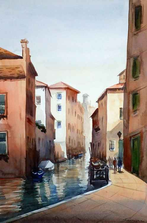 Venice  - Watercolor Painting -