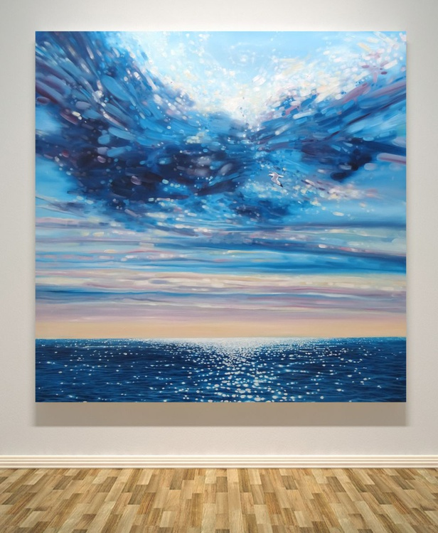 Lord of Sea and Sky - a large original seascape painting - Image 0