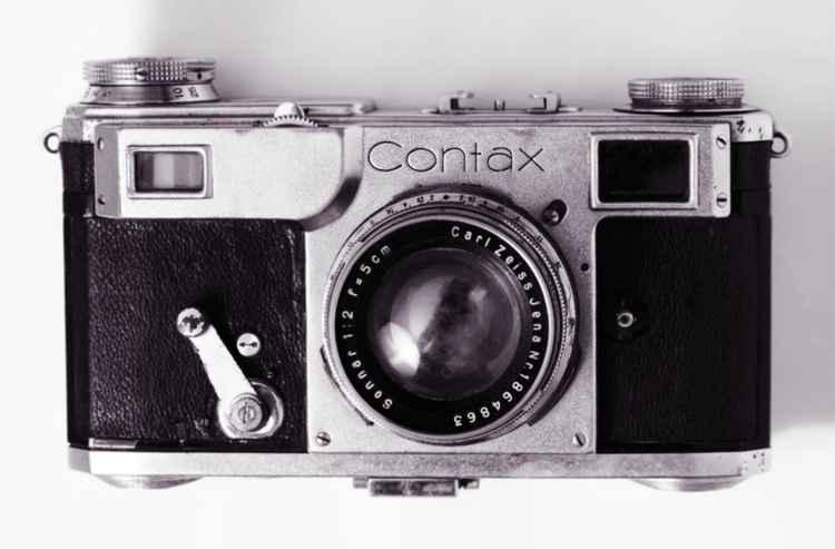 Contax II Pop Art Vintage Camera Print -