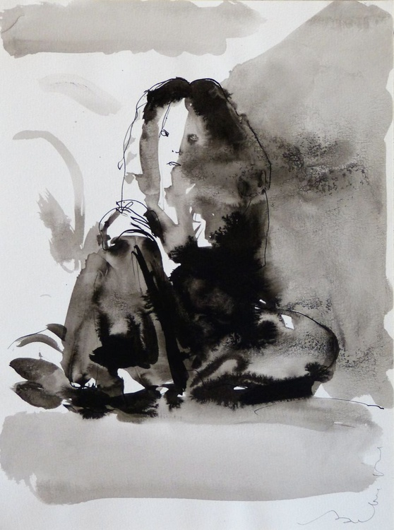 Sitting woman #10, 24x32 cm - Image 0