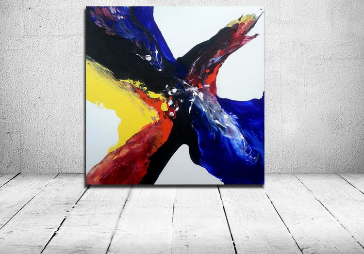 City (abstract acrylic painting) - Image 0