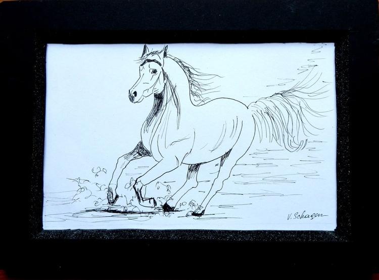 Runing horse - Image 0