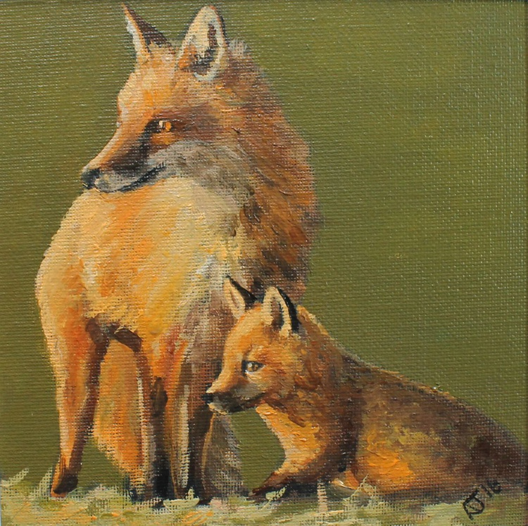 Foxes Rising Early - Image 0