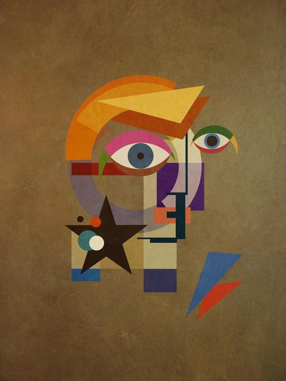 David Bauhaus (Bronze) - David Bowie Portrait, A1 Edition of only 20 - Image 0