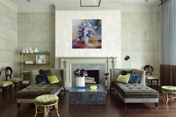Lilac, 60x60 cm, original artwork, FREE SHIPPING - Image 0