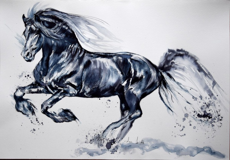 The freedom / Horse Equine Art  Modern Contemporary Wall Art Home Decor  by Anna Sidi - Image 0