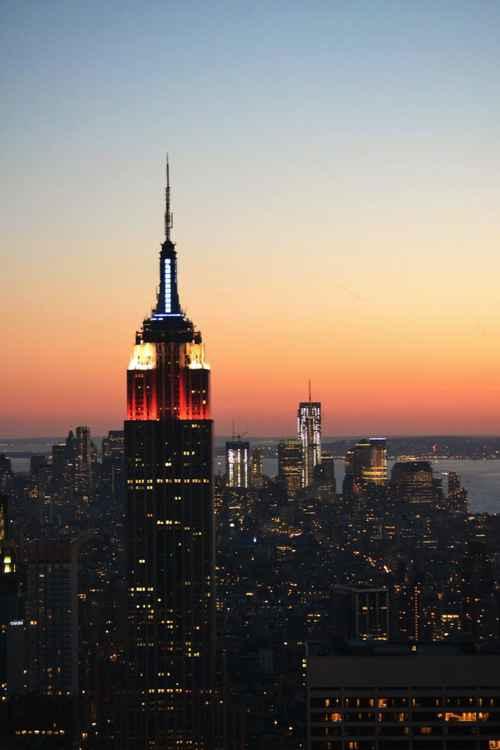 Sunset over Manhattan -