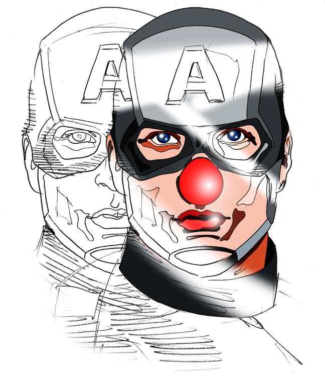 Cap'Amercia Clown -