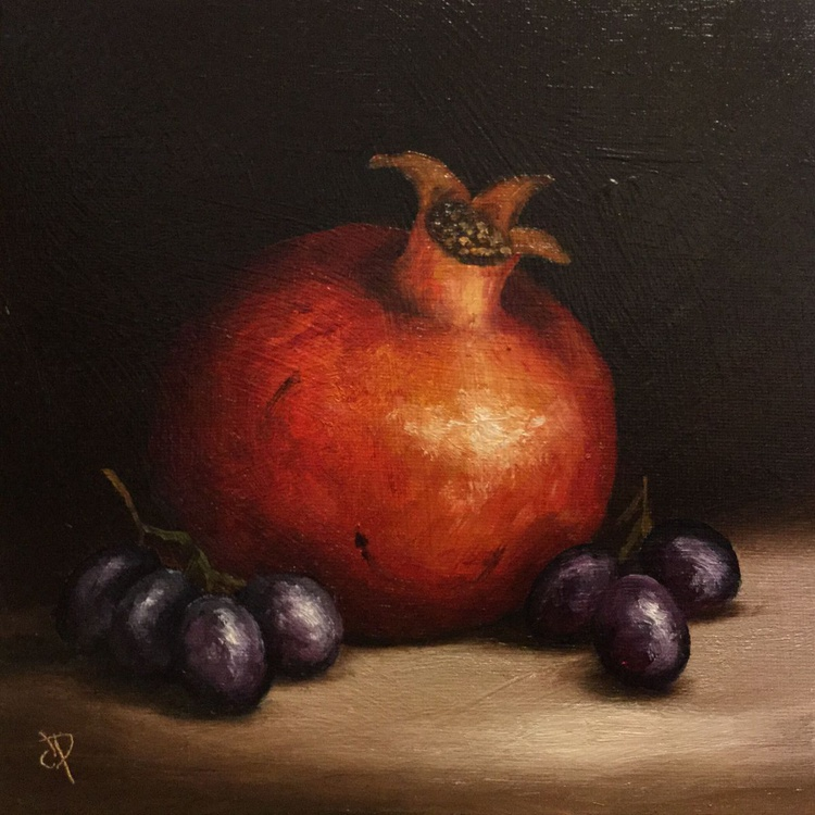 Pomegranate with Grapes - Image 0