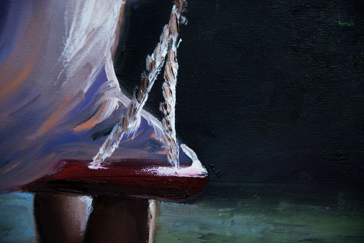 """""""Summer swing"""",original oil painting 60x90x2cm, ready to hang - Image 0"""