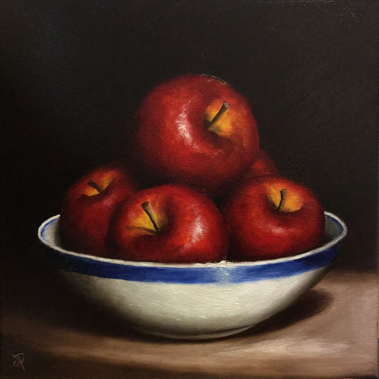 Bowl of Red Apples - Image 0