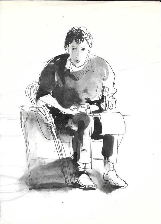 Self-portrait, rue Rochechouart, #2 21x29 cm - Image 0