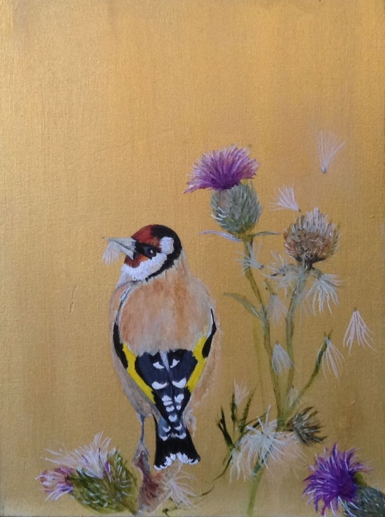 GOLDFINCH AND THISTLES (The Bijoux Collection) - Image 0