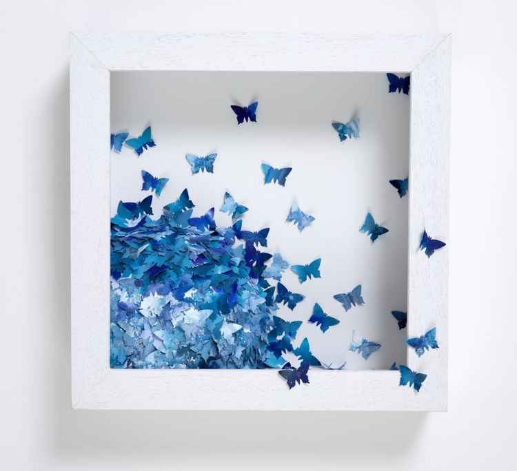 Blue Butterfly Cluster -