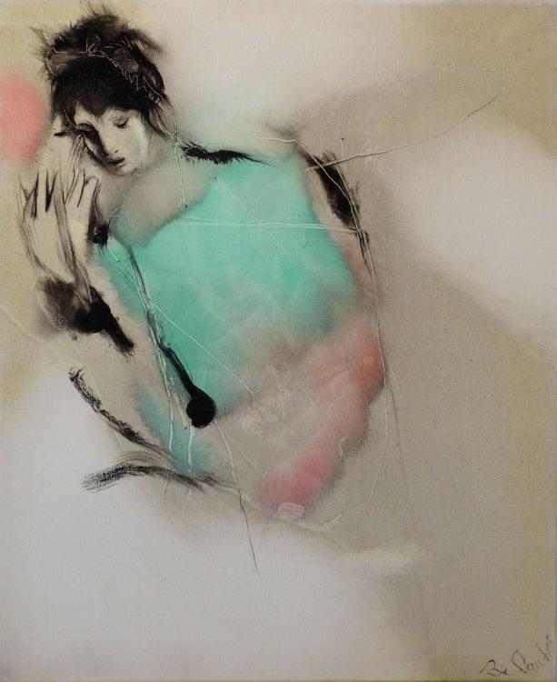Modesty, oil on canvas #4, 65x54 cm - Image 0