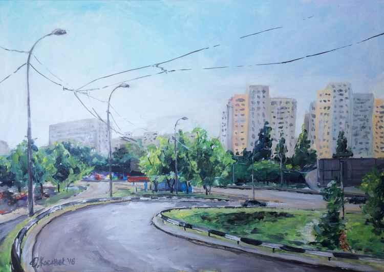 Odeska sq. Kyiv. -