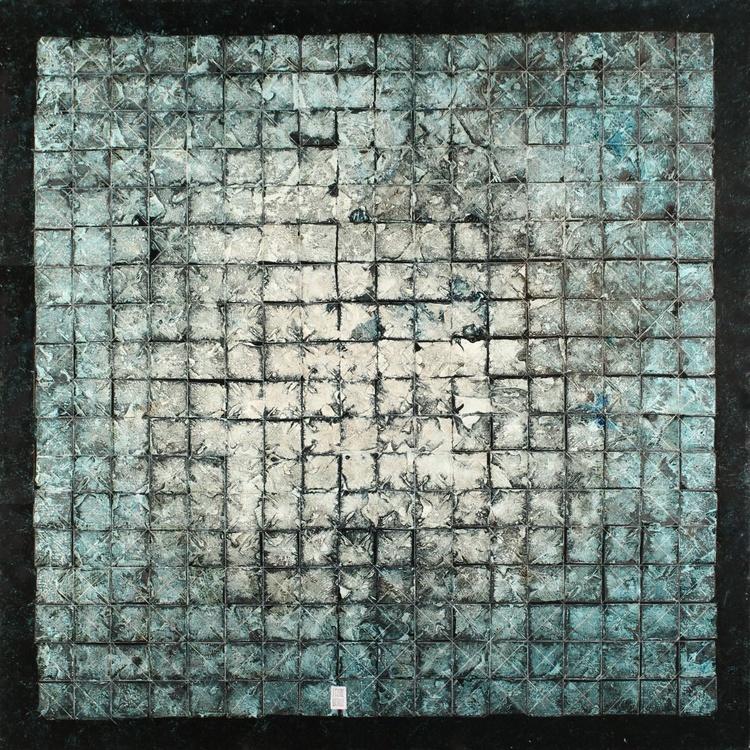 """Indigo painting"", abstract art - Image 0"