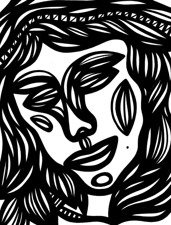 Comely Woman Original Drawing - Image 0