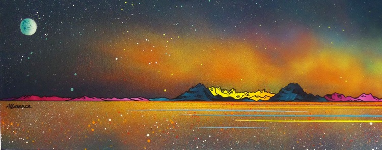 Milky Way Over Skye & The Cuillin from Elgol, Hebrides, Scotland - An original Scottish landscape painting - Image 0