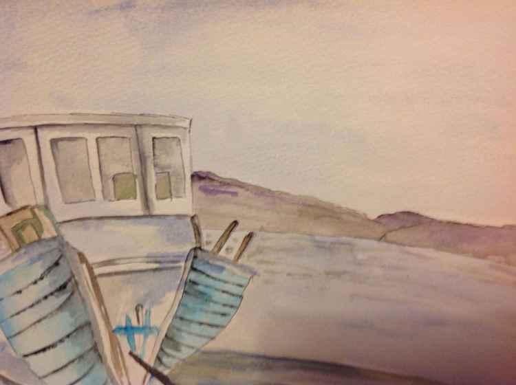 Abandoned boat, isle of Skye -