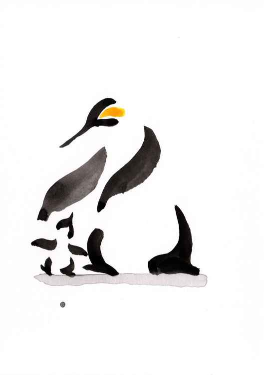 Penguin and a chick 1318C