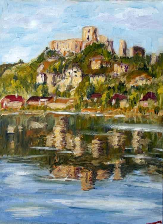 Chateau Gaillard and it's reflection