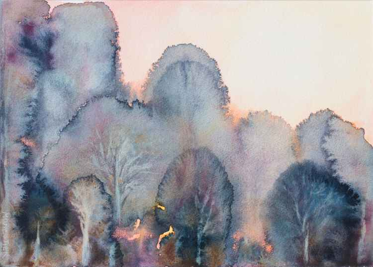 Subtile forest - watercolor -