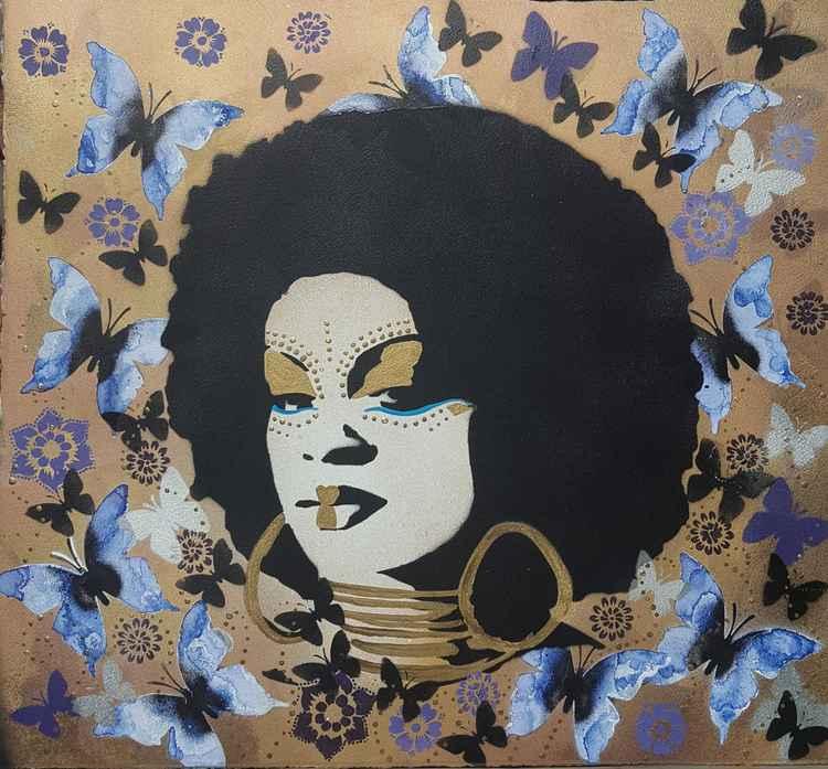 Purple afro -
