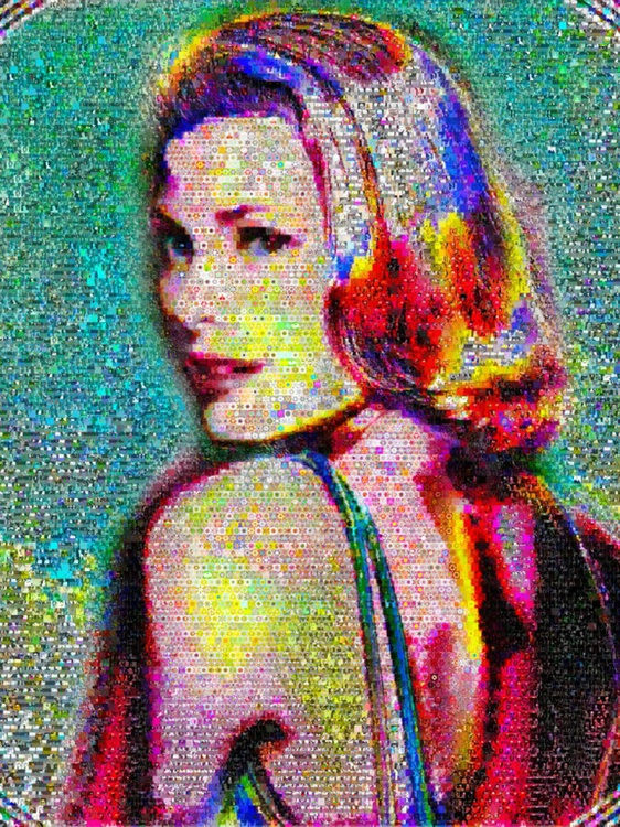 Princess Grace abstract Collage - Image 0