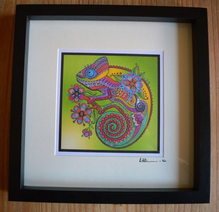 Doodle Art Chameleon - Image 0