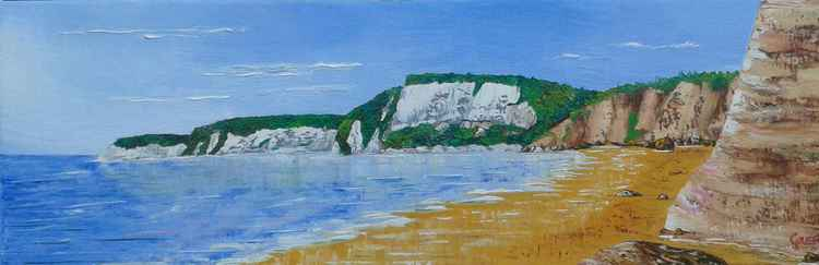 Seaton Hole Beach  with Beer Cliffs (wide) -