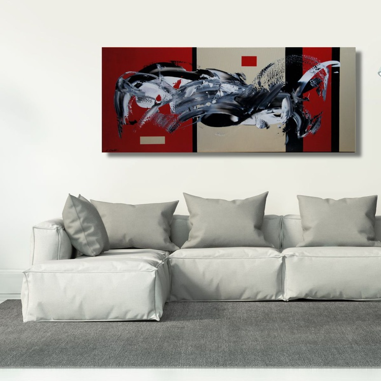 Storm In A Teacup (120 x 50 cm) - Image 0