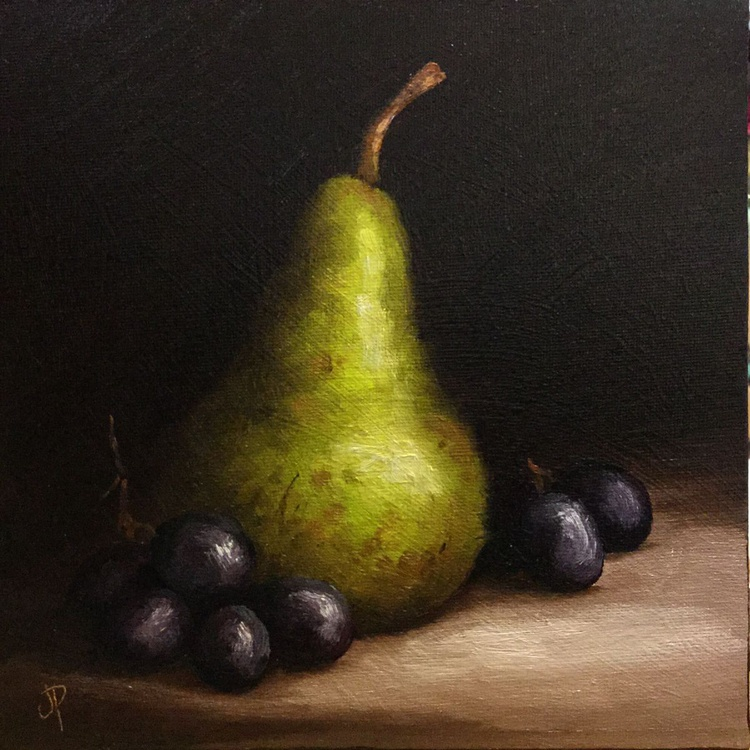 Tall Pear with Grapes - Image 0