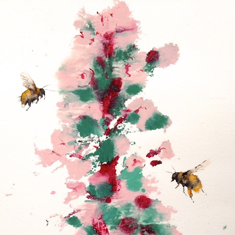 Bees with Bugloss - Image 0