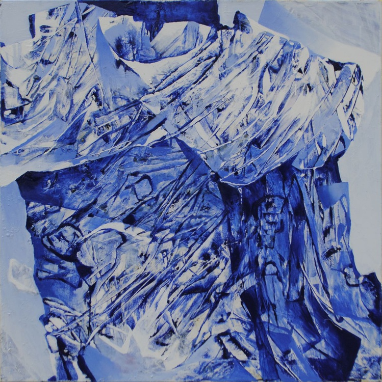 Oil Painting Large Canva Original Signed Modern Abstract Wall Dekor Kulish Blue - Image 0