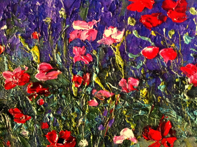 Poppies and lavender - Image 0